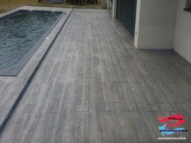 B ton imprim d coratif pour ext rieur meilleur prix qualit et rapide for Prix beton imprime