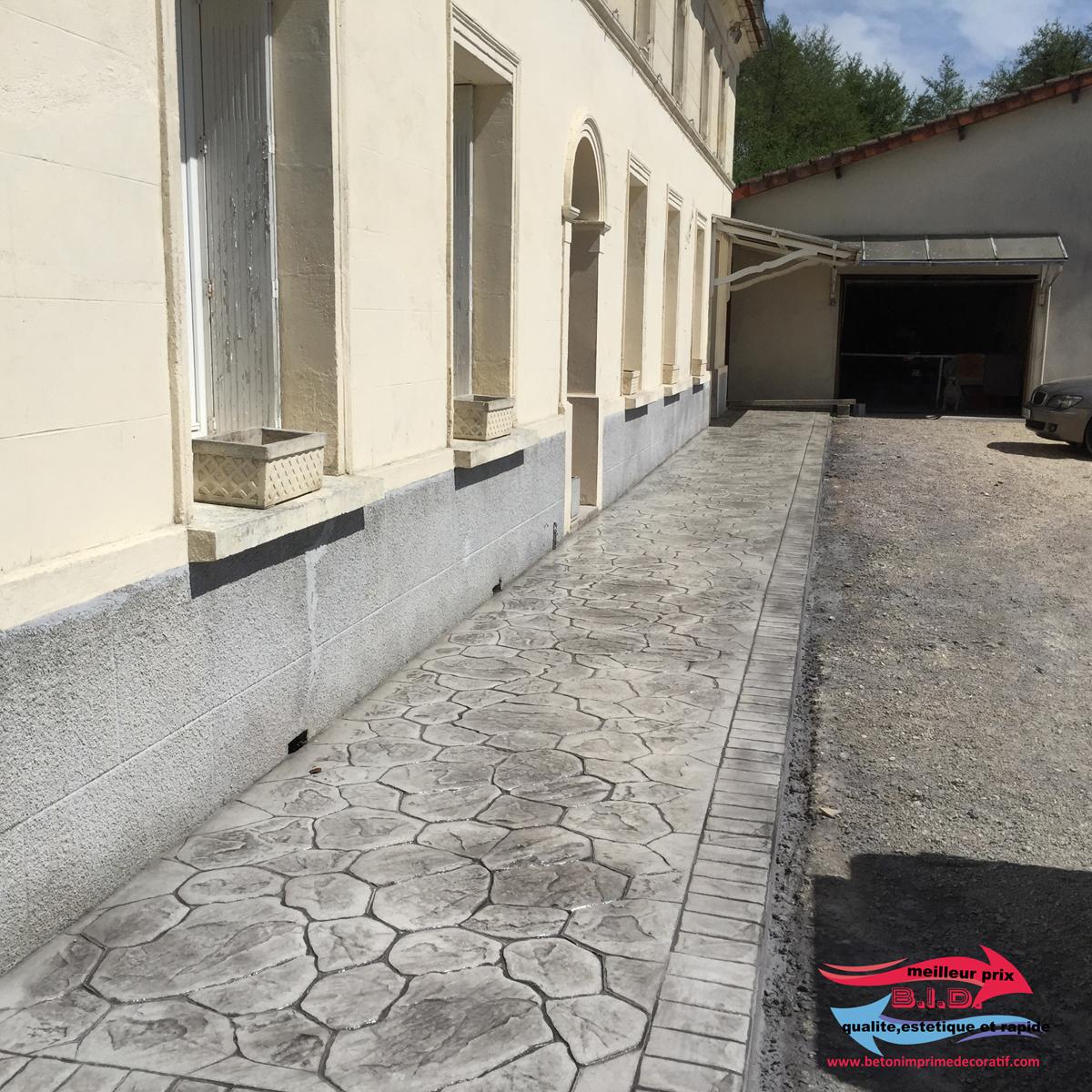 Béton Imprimé St Ciers Sur Gironde (Bordeaux) U2013 Mme. Bouvet